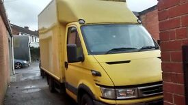 2 men and van removals,tail lift and storage