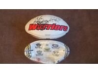 2 FULL SIZE RUGBY BALLS I SIGNED BY WIGAN