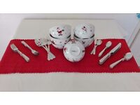 Christmas Bowls and Cutlery