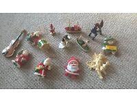 CHRISTMAS DECORATIONS SANTAS, CHERUB, DRUM, VIOLIN, DONKEY, BOATS GLUSBURN BD20 8DW, W.YORKS, SUTTON