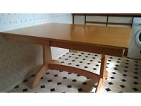 Large family oak extending dining table