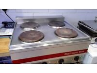 Commercial 4 plate hob / cooker top professional kitchen equipment