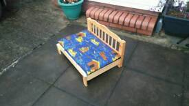 Wooden dog bed pine timber