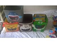 4x animal canvas storage boxes