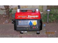 Generator Kawasaki GA1400A portable generator 240V 110V 12V