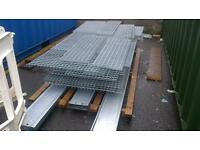 Galvanised steel grating,