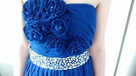 Royal blue prom cocktail dress 10/ 12