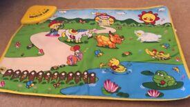 Wolvol baby play mat musical animals & farms