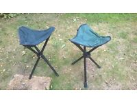 Two foldable camping/fishing stools