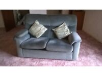 Parker Knoll Blue/Green Velour Sofa - FREE for collection asap