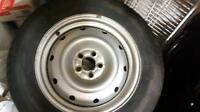 """Four 16.5"""" Rims /Snow Tire $ 160"""