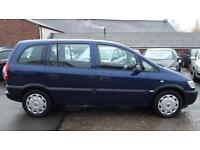 DUAL FUEL 7 SEATER VAUXHALL ZAFIRA 1.6 (2004) long mot low 66k miles