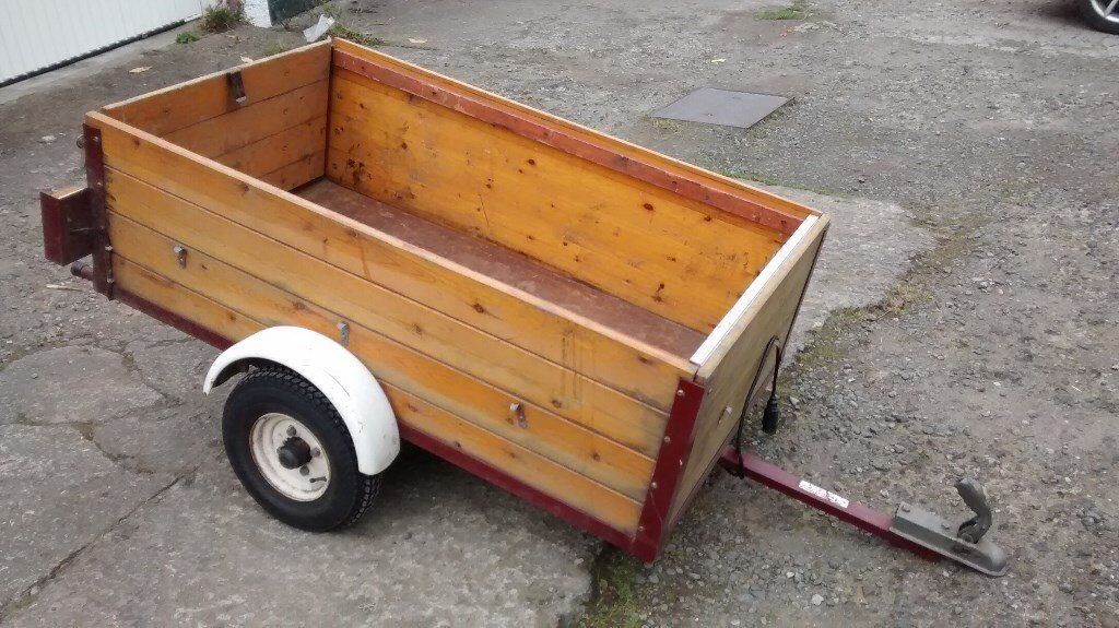Lightweight Car Trailer, easy storing, garage-kept, c/w accessories.