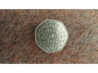 Rare WWF 50p coin - make offer