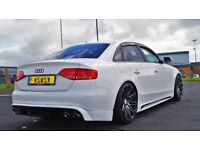 White Audi A4 2.0L TDI Sline Black Edition Rieger kit S4 Grill BIG SPEC! S3 RS REPLICA