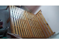 solid wood King size bed, hand made modular format, totally squeek free