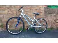RALEIGH CORALIS FRONT SUSPENSION MTB 7005 ALUMINIUM FRAME suitable for teens to small adult