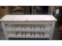 DRESSER UNITS,BEDS,HAND MADE SIDEBOARD,TV UNITS,DINING/COFFEE TABLES,GARDEN&PATIO BENCHES FROM £49