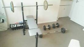 York bench with 95kg weights