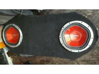 1100watt each subs