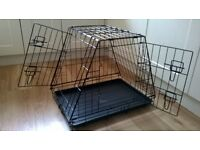 Sloping Dog Car Cage - folds for storage - good condition