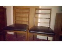 AH Macintosh dining chairs