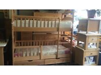 brand new Solid Beech Wood childrens Bunk Bed Flat packed brand new - collection only from Colindale