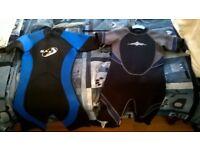 2 short leg wetsuits