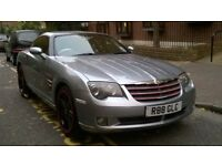 CHRYSLER CROSSFIRE 3.2 AUTO COUPE 2004 04 REG, MET BLUE / LEATHER PAS A/C 86K MILES SUPERB PRICE!