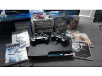 PS3 Slim 120gb with 21 Games