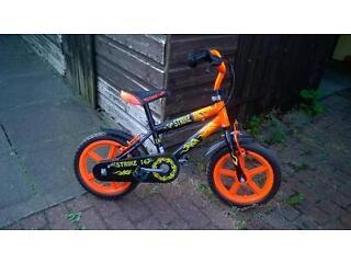 """boys 14"""" strike bike"""