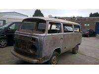 VW T2 bay window Type 2 RUST FREE Bare metal shell camper campervan westfalia PROJECT open to offers