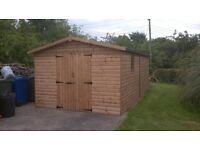 wooded garage