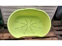 Large Lime Green Vinyl Dog Bed Perfect condition , bought for 2 Yorkies who liked their tiny bed