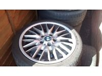 BMW MV1 GENUINE FRONT 8J ALLOY WITH 225/40 ZR18 WITH 6MM TRED
