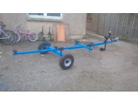 CAR BOAT TRAILER 16 TO 18 FT BOAT HAS WINCH /HEAVY DUTY TYRES good condition