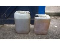 diesel and cooking oil in containers