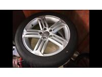Audi Alloys with good Tyres