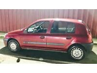 CHEAP RENAULT CLIO ALIZE 1.4L (2001) 5 door year mot