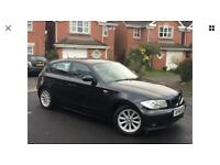 Breaking Bmw 116i in black 2007 no front end parts good engine gearbox