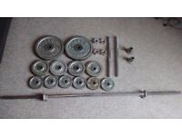 Metal Barbell/Dumbbell Weights Set