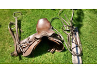 Saddle, bridle, stirrups etc. for 12.2 pony or thereabouts