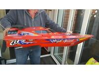 High power radio controlled speed boat