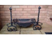 Fire Grate: Quality Swan Neck Log Burning, Wrought Iron