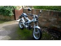 LOW MILEAGE 57 Plate SACHS MADASS 50cc Road Legal Motorcycle