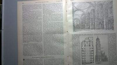 1895 62 Unterweser Weser Schesien Denkmale Ondon Westminter Kathedrale