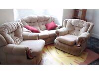 Sofa, Reclinable Armchair and Armchair Set for Sale