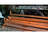 metal poles and shevling bars 100s stacking shelves etc selling job lots