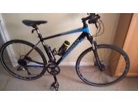 AS NEW, men's Boardman MX Sport Road Hybrid Mountain Bike. 27 speed - 53cm frame