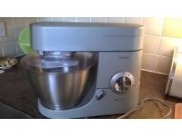 Kenwood Chef food mixer with attachments.